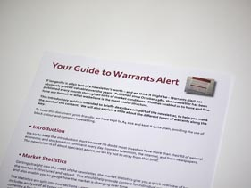 Investors Guide to Warrants Alert