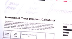 Investment Trust Discount Calculator